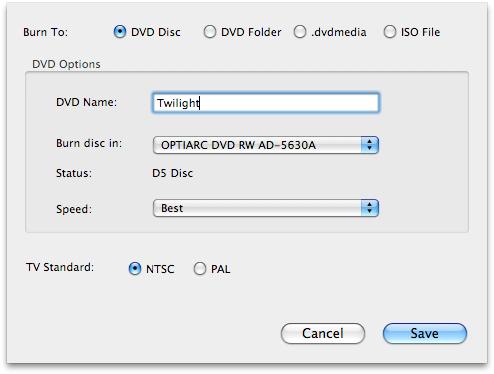 How to burn photos/slideshow to DVD on Mac OS X?